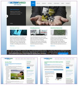 Shredding Company Website Design